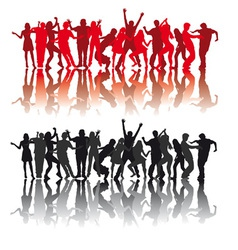 dancers vector image