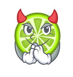 Devil green lemon slices in character fridge vector