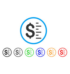 dollar value rounded icon vector image