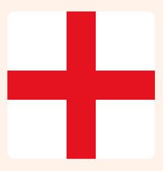 england square flag button social media vector image