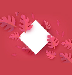 flat abstract coral leaves pattern vector image
