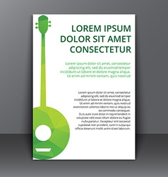 Flyer with a polygonal banjo vector