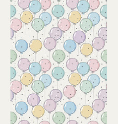 Funny hand drawn colorful balloons pattern vector