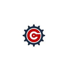 Gear letter g logo icon design vector