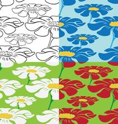 gerbera flower vector image