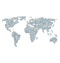 Global map mosaic of masked thief icons vector