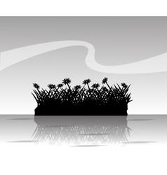 Grass plant silhouette design vector