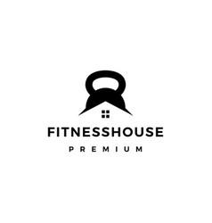 house gym kettlebell fitness logo icon vector image