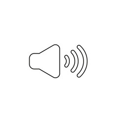 icon concept of sound on black outlines vector image