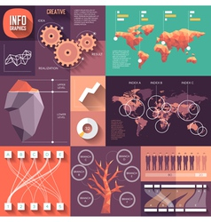 infographics flat design with long shadows vector image
