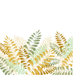 isolated background with tropical leaves vector image