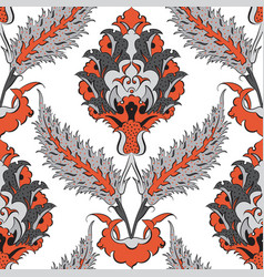iznik tile pattern with floral ornaments vector image