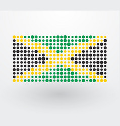 jamaica flag composed of colorful dots vector image