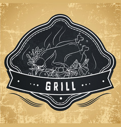 Label for restaurant cafe bar or grocery store vector