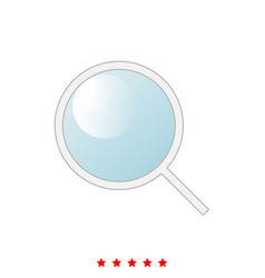 magnifying glass or loupe it is icon vector image
