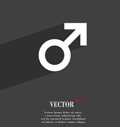 Male sex icon symbol Flat modern web design with vector image