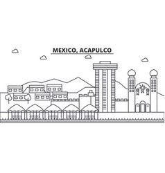 Mexico acapulco architecture line skyline vector