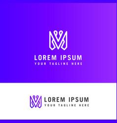 modern letter m logo design m letter minimal vector image