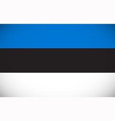 National flag of Estonia vector image