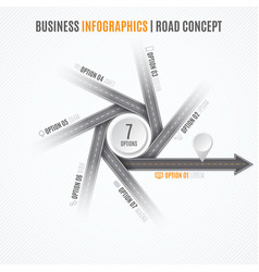 navigation map infographic concept crossroad with vector image