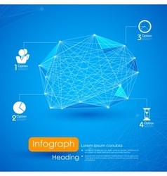 Networking Infographic Background vector