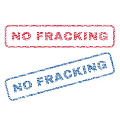 No fracking textile stamps vector