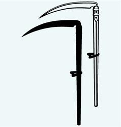 Old scythe vector image