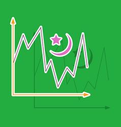 Paper sticker on theme arabic business desert vector