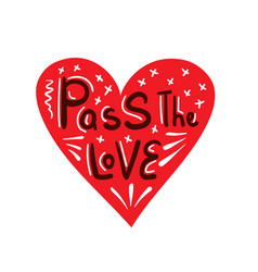 pass love heart vector image