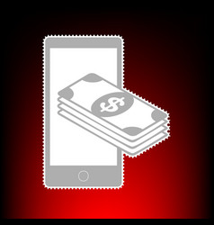 payment refill your mobile smart phone postage vector image