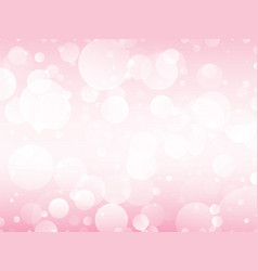 pink circles background vector image