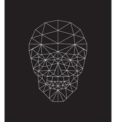 Polygonal skull vector