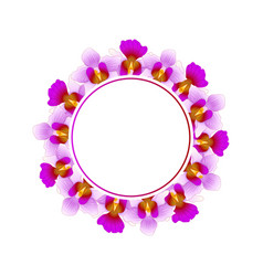 purple vanda miss joaquim orchid banner wreath vector image