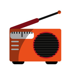 radio with antenna icon image vector image