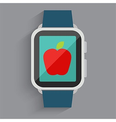 Red Apple On Watch vector image