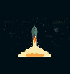 Rocket takeoff vector