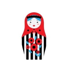 Russian dolls - matryoshka vector image