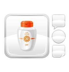 Sea beach and travel icon with sun protection vector