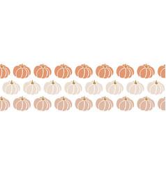 Seamless border pumpkins repeating pattern vector