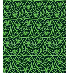 seamless pattern with shamrock vector image