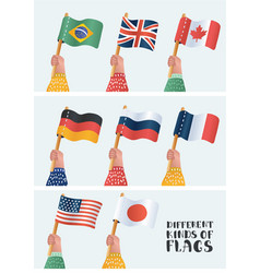 set national flags vector image