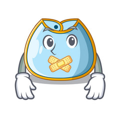 Silent baby bib isolated on the mascot vector
