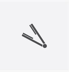 Simple straightener icon vector