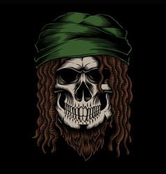 Skull dreadlocks vector