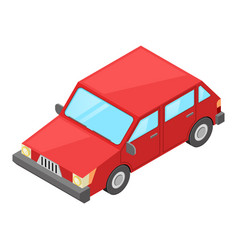 small red car retro styled isometric vector image