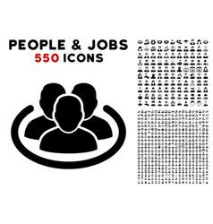 Social network icon with bonus vector