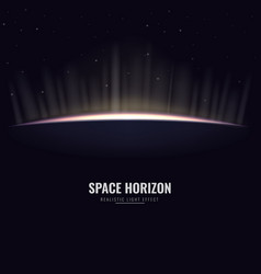 space horizon with sunrise and sunshine background vector image