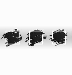 square white frame with black paint brush paint vector image