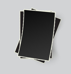 Stack of retro photo frames isolated vector