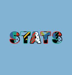 Stats concept word art vector